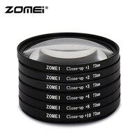 Zomei оригинальный макрофильтр Клоуз-ап со степенью приближения фильтр для объектива + 1 + 2 + 3 + 4 + 8 + 10 фильтр объектива 49/52/55/58/62/67/72/77/82 мм для Canon ...