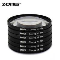 Zomei Original Macro Close Up Lens Filter +1 +2 +3 +4 +8 +10 Filter 49/52/55/58/62/67/72/77/82mm for Canon Nikon DSLR Camera