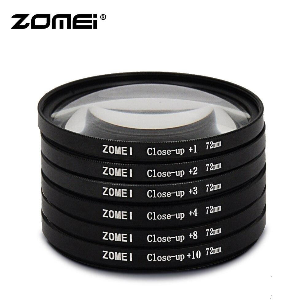 Zomei macro original close-up filtro de lente + 1 + 2 + 3 + 4 + 8 + 10 filtro 49/52/55/58/62/67/72/77/82mm para canon câmera nikon dslr
