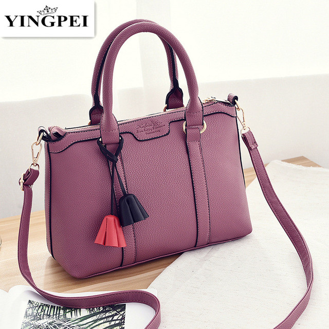 New 2016 Embossed Leather Boston Women Handbag Fashion Casual Woman Bag Ladies Handbags Simple Shoulder Bag bolsos sac a main