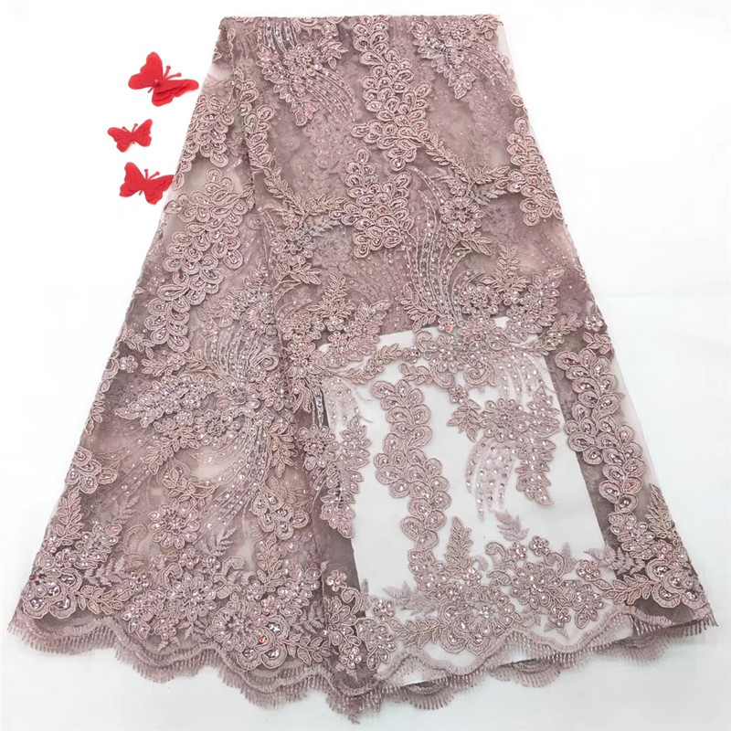 2018 Latest French Nigerian Laces Fabric High Quality Tulle African Laces Fabric Wedding African French Tulle