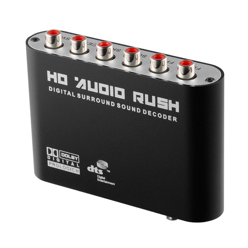 2017 yeni ac3/dts dijital optik ses için 5.1/2.1 kanal stereo analog rca dönüştürücü multimedya 120db sinyal gürültü