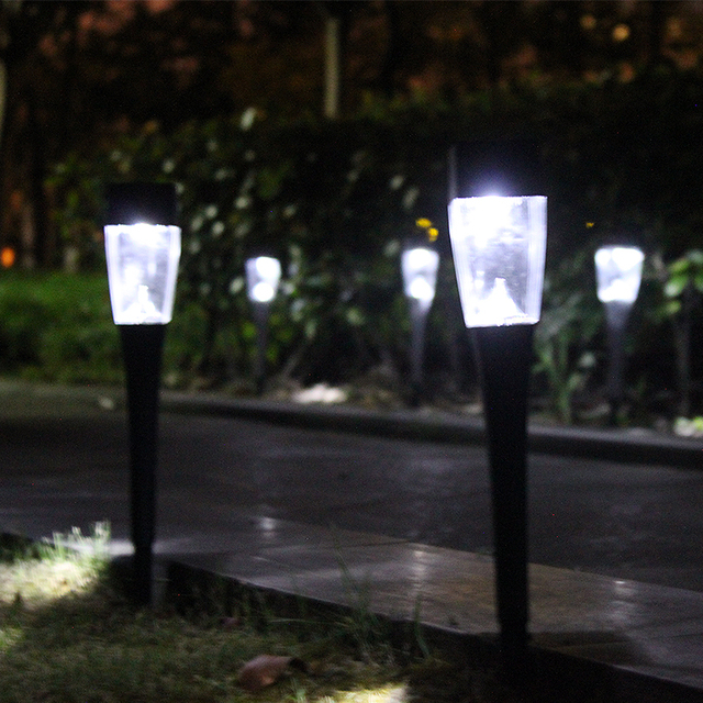 new 3 pcs mini led solar panel lawn path lights waterproof new year christmas garland garden