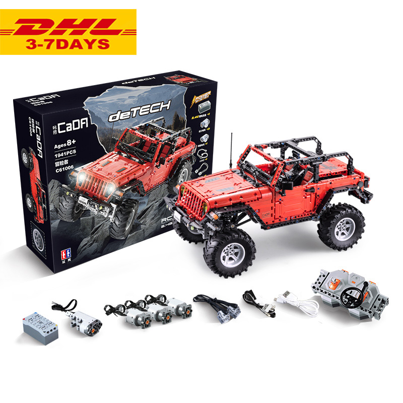 RC Jeeped Adventurer Off road car fit legoING Technic building blocks kids Toys gifts for children