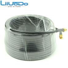 15 Meter(49.2 Ft) Low Loss SMA Female to SMA Male Extension RG58 Coaxial Cable Connector