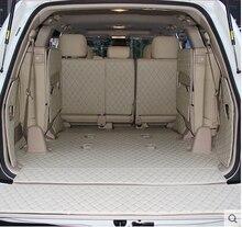 Ensemble complet tapis de coffre avec porte arrière, pour Toyota Land Cruiser 200, 7 sièges, 2017 2007, durable, cargo