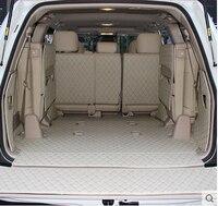 Full set trunk mats + Back door mat for Toyota Land Cruiser 200 7seats 2017 2007 durable cargo liner boot carpets car styling