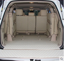 Full set trunk mats + Back door mat for Toyota Land Cruiser 200 7seats 2017 2007 durable cargo liner boot carpets car styling