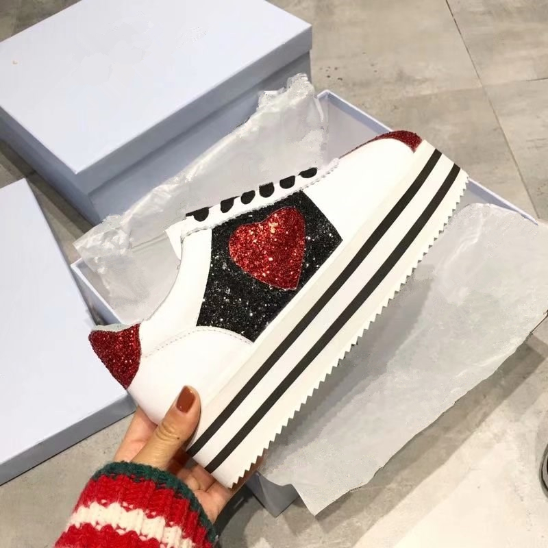 Genuine Leather Luxury Brand Women Casual Shoes Fashion embroidery Platform lace UP Flats Loafers Runway Putdoor Shoes Woman 40