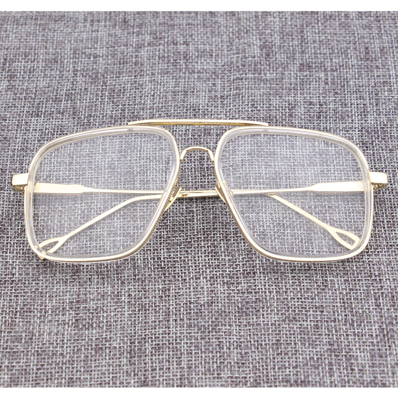 35420cd022 2018 Brand Vintage Optical Prescription Clear Lens Glasses Frame Oversized  Gold Frames Eyeglasses for Women Men Oculos de Grau-in Eyewear Frames from  ...