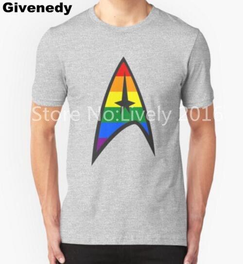 Gay Star Trek Emblem Mens Womens Short Sleeve T Shirt 100 Cotton