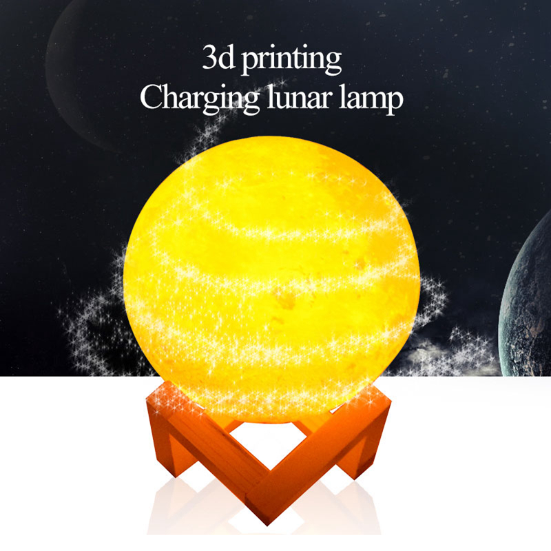 3D Print LED Moon Light Touch Switch LED Bedroom Night Lamp Novelty Light Baby Kids Gifts Christmas Holiday Home Decoration magnetic floating levitation 3d print moon lamp led night light 2 color auto change moon light home decor creative birthday gift