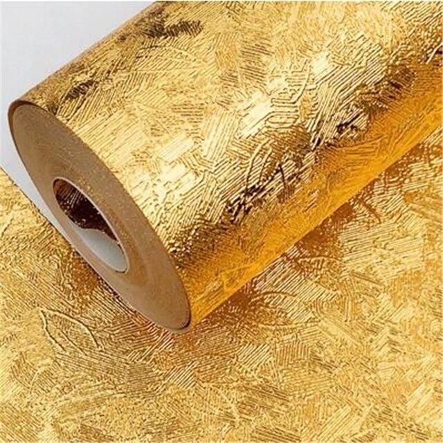 Beibehang High grade goldene tapete goldfolie gold gelb silber ktv hotel pvc wohnzimmer geb rstet decke.jpg 640x640 - Goldene Tapete