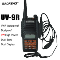 100% New Original Baofeng UV 9R IP67 Waterproof Dual Band 136 174/400 520MHz Ham Radio Baofeng 8W Walkie Talkie two way UV 9R
