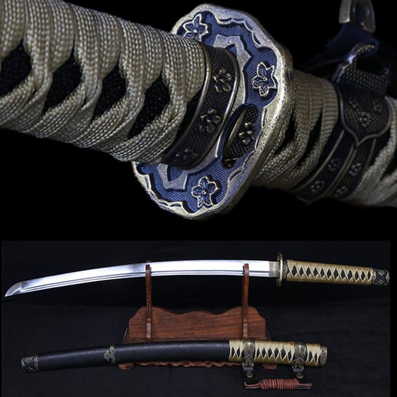 Plně ručně vyráběný japonský kov Katana samuraj Mečová ocel - Dekorace interiéru