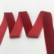"""3 ярдов/партия """"(25 мм) широкая красная бархатная лента, заколки, бант, свадебное украшение"""