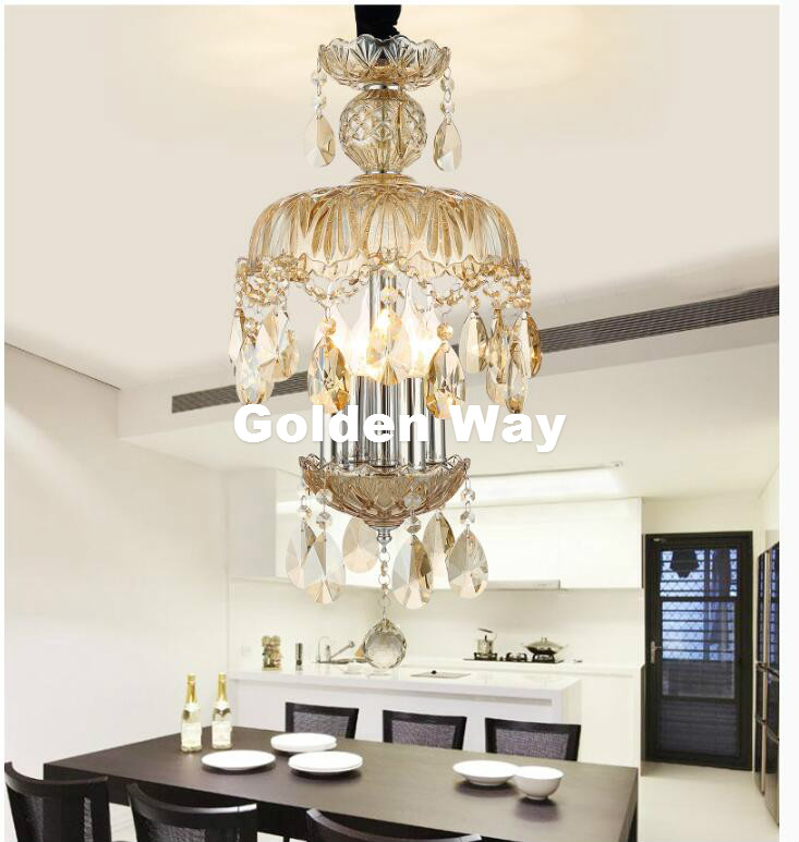 K9 Crystal Chandelier Lighting Modern Luxury Champagne Color Crystal Pendant Lamp For Bedroom Living Room Dining Room Lighting chandelier lighting crystal luxury modern chandeliers crystal bedroom light crystal chandelier lamp hanging room light lighting