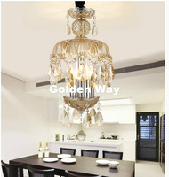 K9 Crystal Chandelier Lighting Modern Luxury Champagne Color Crystal Pendant Lamp For Bedroom Living Room Dining Room Lighting