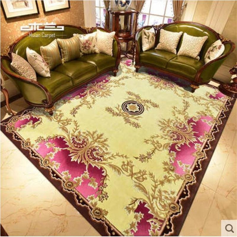 Luxueux Pure laine fait à la main tapis pour salon chambre hôtel maison tapis plancher porte tapis nouvelle-zélande laine Style européen