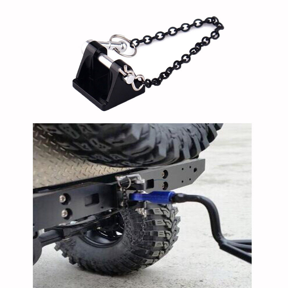 Metal Tow Shackle Trailer Hook For 1/10 RC Rock Crawler Car Axial SCX10 RC4WD D90 CC01 D110 Traxxas TRX4 TRX-4
