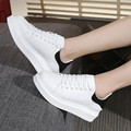 Europe Latest Popular White shoes Large size thick bottom casual shoes Platform Women shoes size 32-43 huarche yeezy obuv