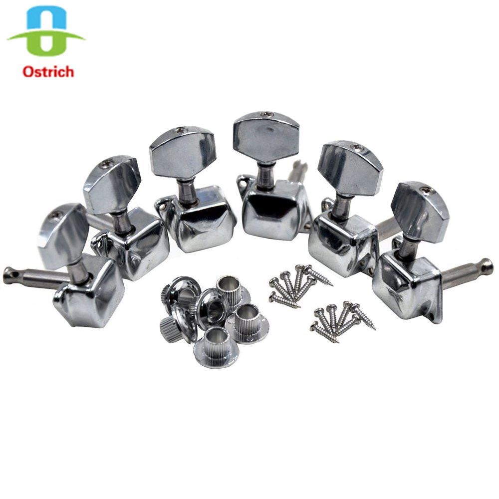 L3R Chrome Semiclosed Guitar Tuning Pegs Tuners Machine Heads