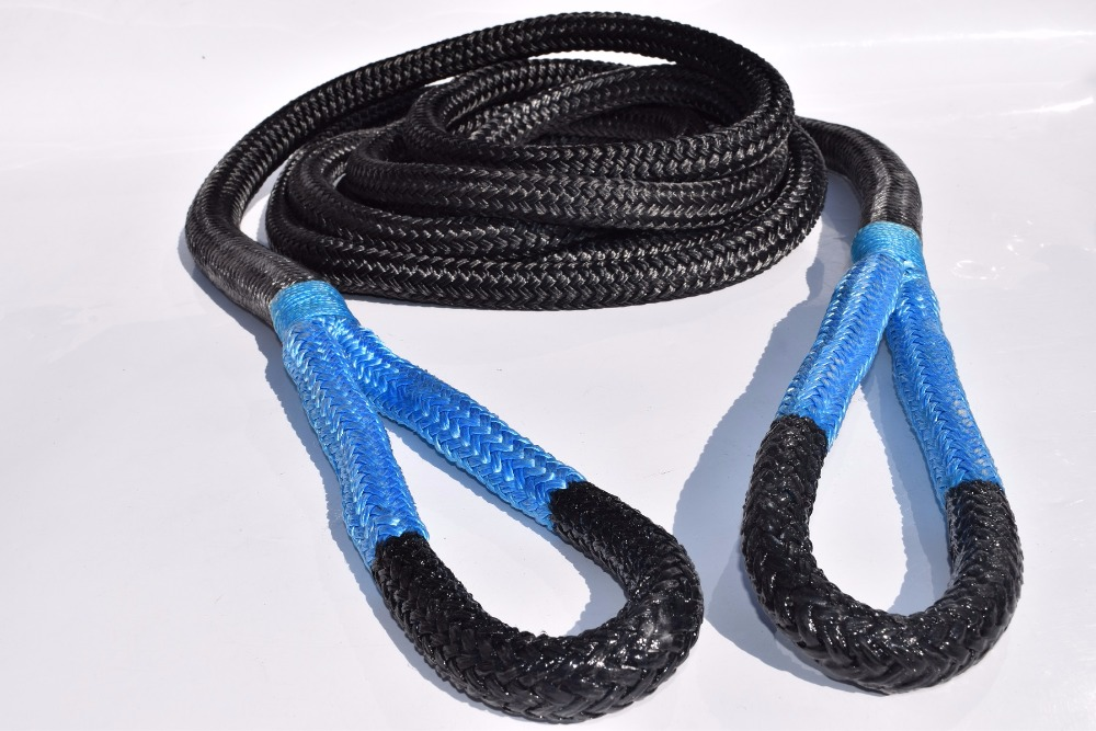Black 3/4*20ft Kinetic Rope,19mm*6m Energy Rope,Double braided Recovery Rope,Towing Ropes orange 1inch 30ft kinetic recovery rope bubba rope double braied nylon energy rope towing rope