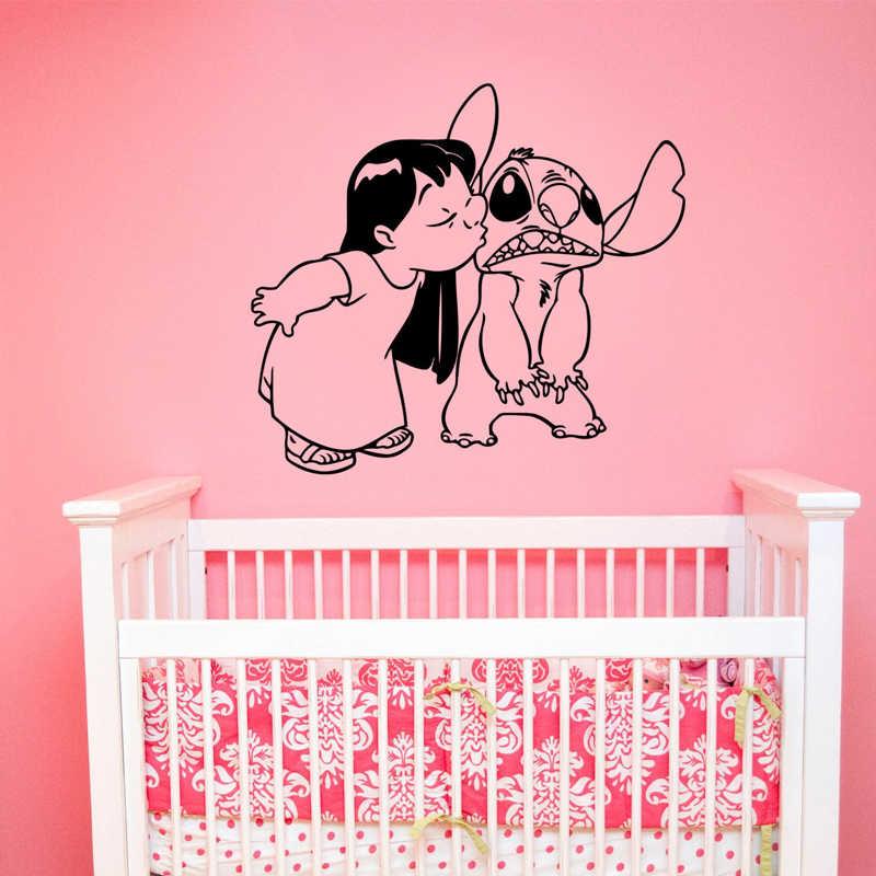 Dora Ciuman Stitch Wallpaper Stiker untuk Anak anak Kamar Nursery Seni Dekorasi untuk Rumah Dinding Vinyl.jpg q50