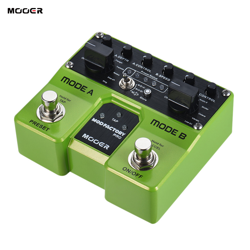 buy mooer modfactory pro guitar pedal dual modules modulation guitar effect. Black Bedroom Furniture Sets. Home Design Ideas