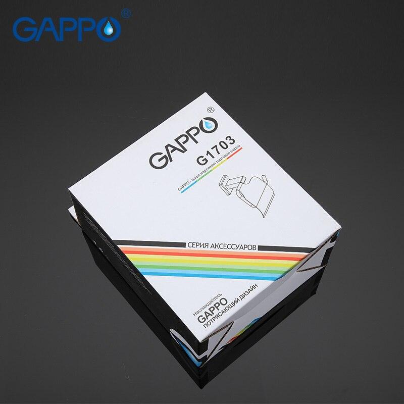 Image 5 - GAPPO 紙ホルダー浴室の壁マウントトイレットペーパーホルダーステンレス鋼ロール紙ハンガーとカバー浴室付属品紙ホルダー   -