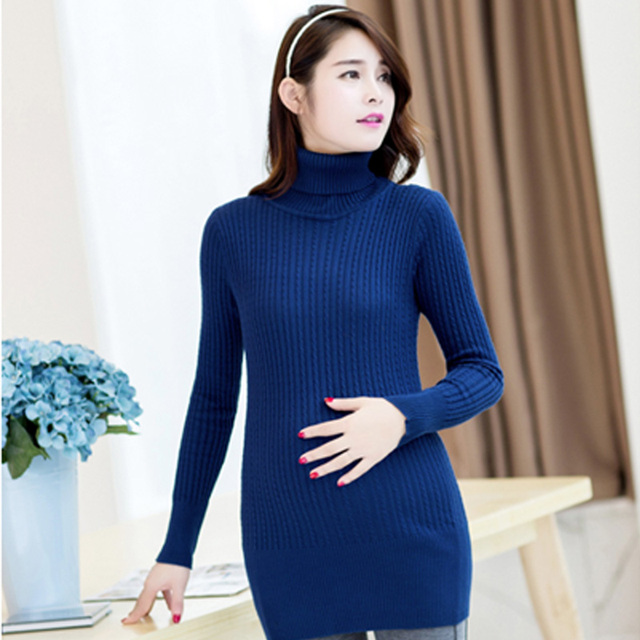 Knitting Maternity Clothes 2017 Maternity Knitting Bottom Clothes Pregnant Women Autumn Plus Size Clothes Blue #20