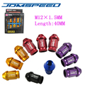 Xpower-20 Unids/set 40 MM M12X1.5 JDM D1-SPEC TUERCAS de las RUEDAS PARA HONDA ACURA INTEGRA CÍVICO NUEVA (P: 1.5 L: 40 MM)