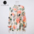 Escavar Estilo Boho Rainbow Impressão Floral Playsuit V Long Neck Sleeve Rompers Mulheres Jumpsuit Elegante Festa Ruffle Geral
