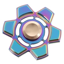 2017 Hot Hand Spinner Colorful Fidget Toys Stress Cube Metal Finger Spinners Focus Keep Toy for ADHD EDC Anti Stress Hand Toys