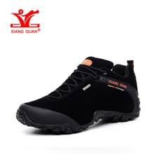 XIANGGUAN Man Hiking Shoes For Men Suede Athletic Trekking Boots Black Zapatillas Sports Climbing Shoe Outdoor Walking Sneakers