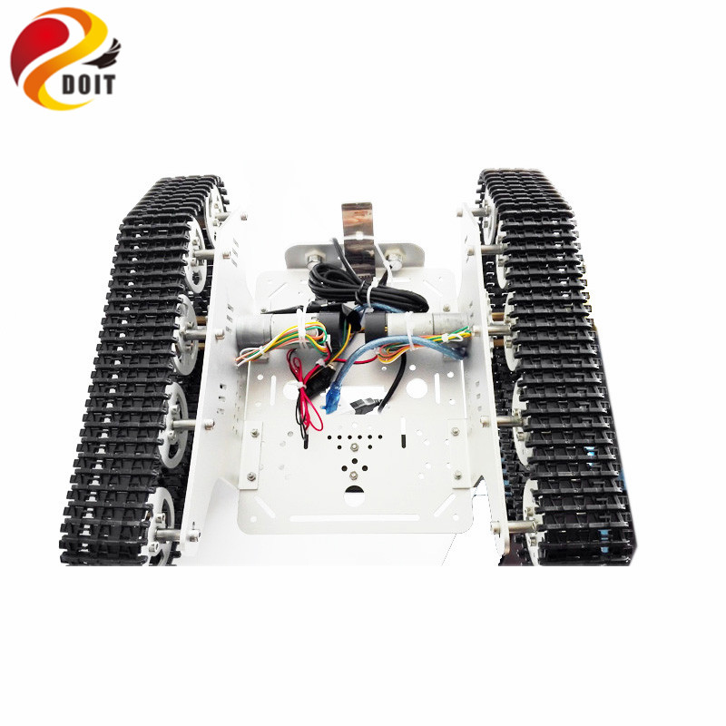 Wireless WiFi Video Transmission Tank by Android Phone RC T300 from NodeMCU Development Kit with L293D Motor Shield With Camera