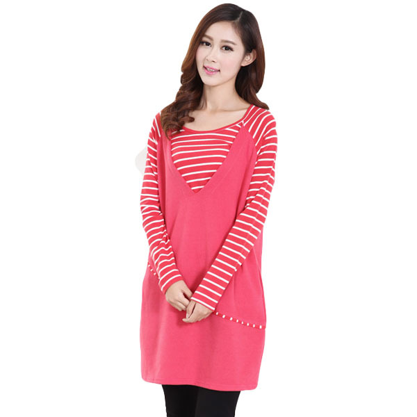Hot sale Autumn  Striped Long-sleeved Nursing Dress Casual Breastfeeding Clothing nursing clothing feeding clothing loose Breast hot sale spring autumn long sleeved nursing dress maternity nursing clothes elegant slim breastfeeding clothing nursing clothin
