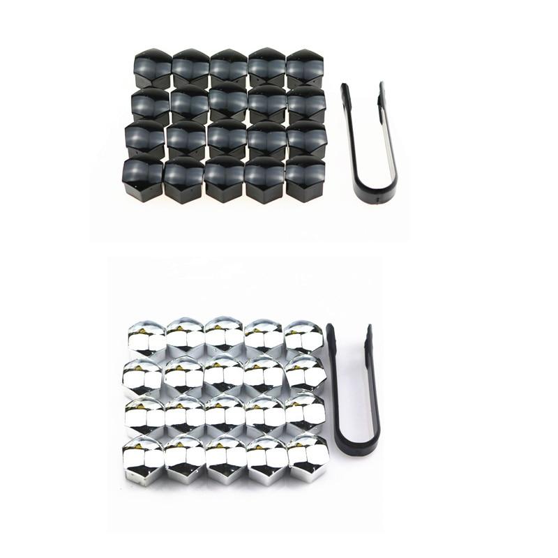 17mm 20Pcs/lot Wheel Lug Bolt Center Nut Covers Caps For Skoda Octavia A5 A7 1 Rapid Fabia Yeti Superb Accessories