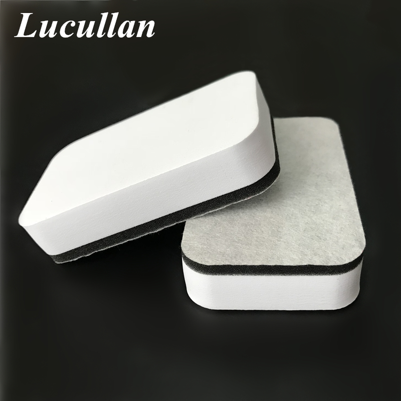 Lucullan Design Non-Woven Fabric Nano Paint Coating Sponge Car Liquid Ceramic Coat Auto Glass Care Protection Applicator