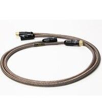 MPS M 9XLR Hi end 99.99997% OCC 24K Gold Plated 3Pin Plug XLR connector balance audio cable DVD CD DAC amplifier 1 pair