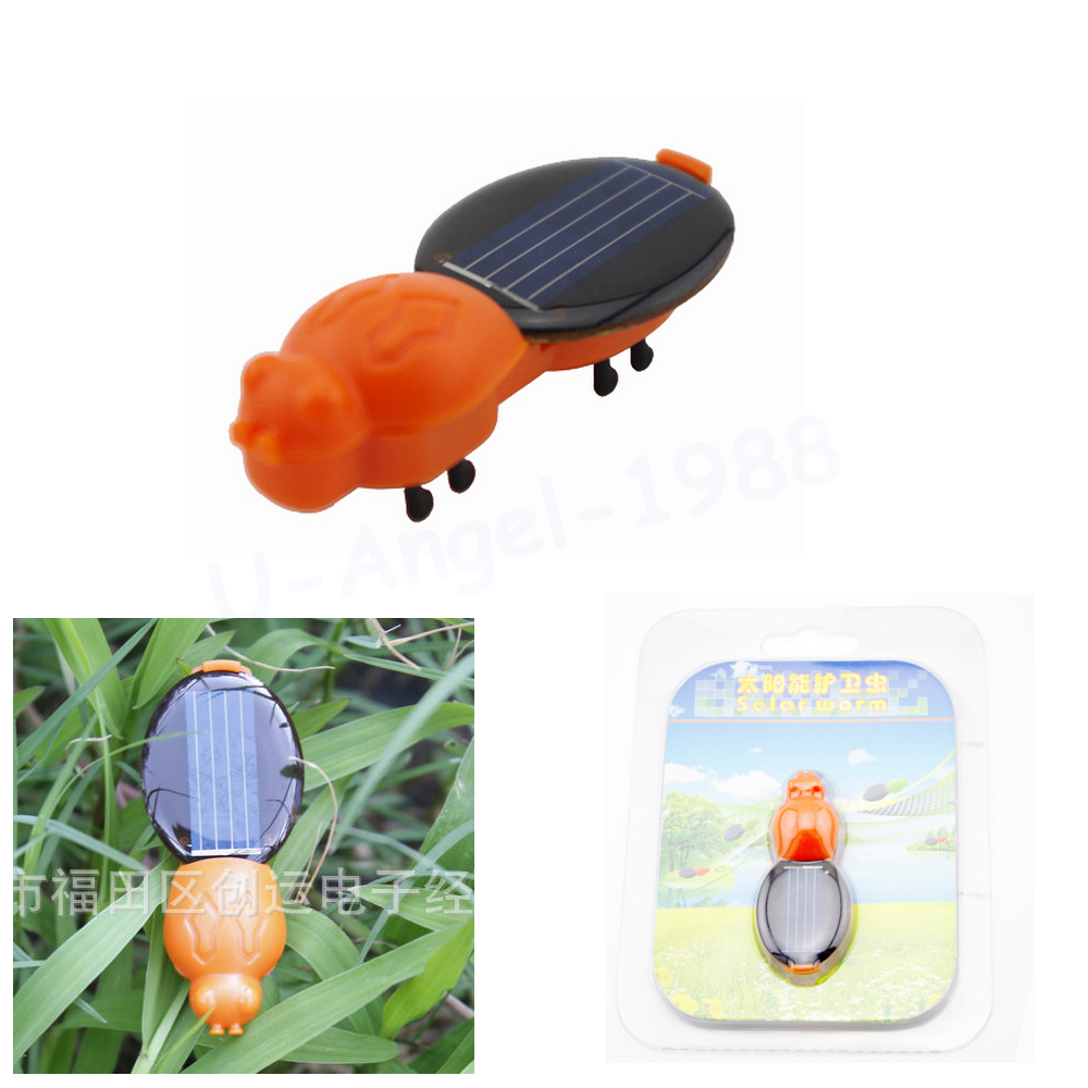 1pcs Power Solar Energy Solar Worm Children Insect Bug Teaching Fun Gift for Kid