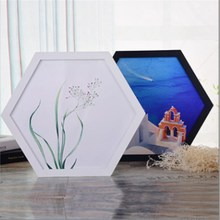 Hexagonal Photo Frame Multicolored Woody Photo Wall Picture Frame Hanging Wall Wedding Photo Frame Home Decoration настенные фотокартины connaught photo frame