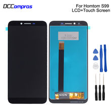 Original For HOMTOM S99 LCD Display Touch Screen Digitizer For HOMTOM S99 Display Screen LCD Phone Parts Free Tools цена 2017
