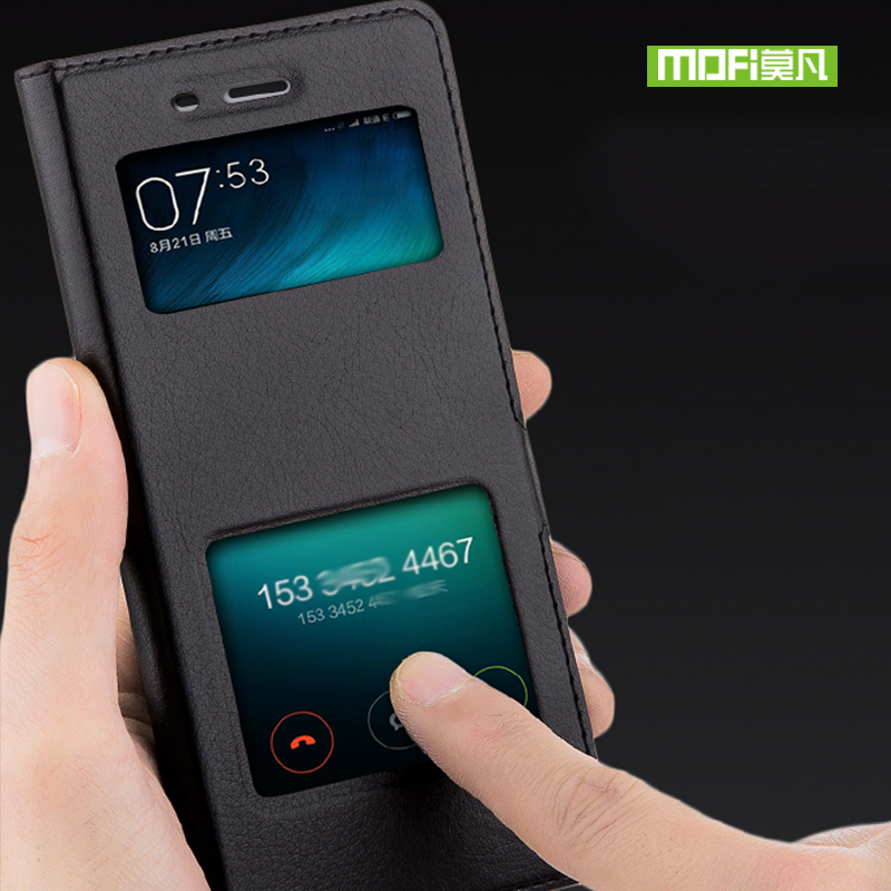 For Xiaomi redmi 4X case cover For Xiaomi redmi 4X case silicone flip leather original mofi xiomi redmi 4X case 360 shockproof