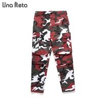 Una Reta Color Camo Cargo Pants Men 2018 New Mens Fashion Baggy Tactical Trouser Couple Streetwear