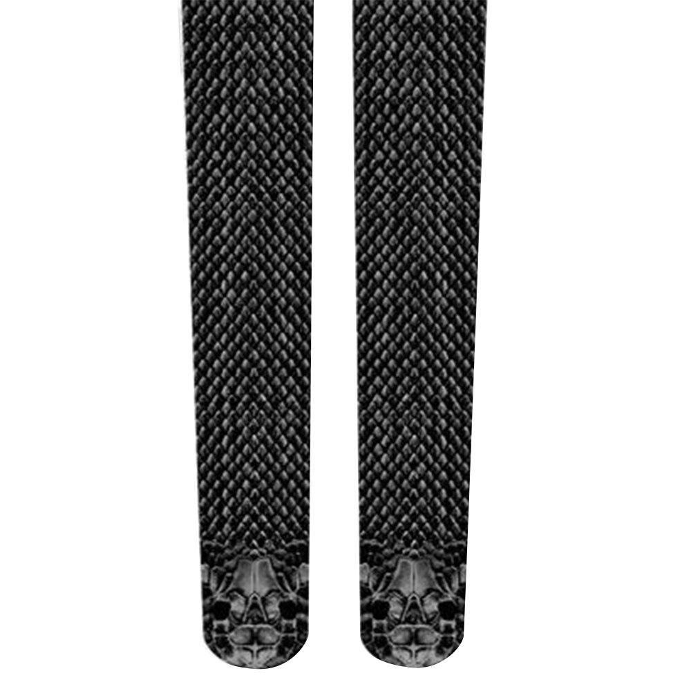 Сексуальные дышащие 3D женские брюки для бега со змеиным принтом, спортивные Леггинсы с принтом змеиной кожи, женские эластичные пот брюки Vogue - Цвет: black