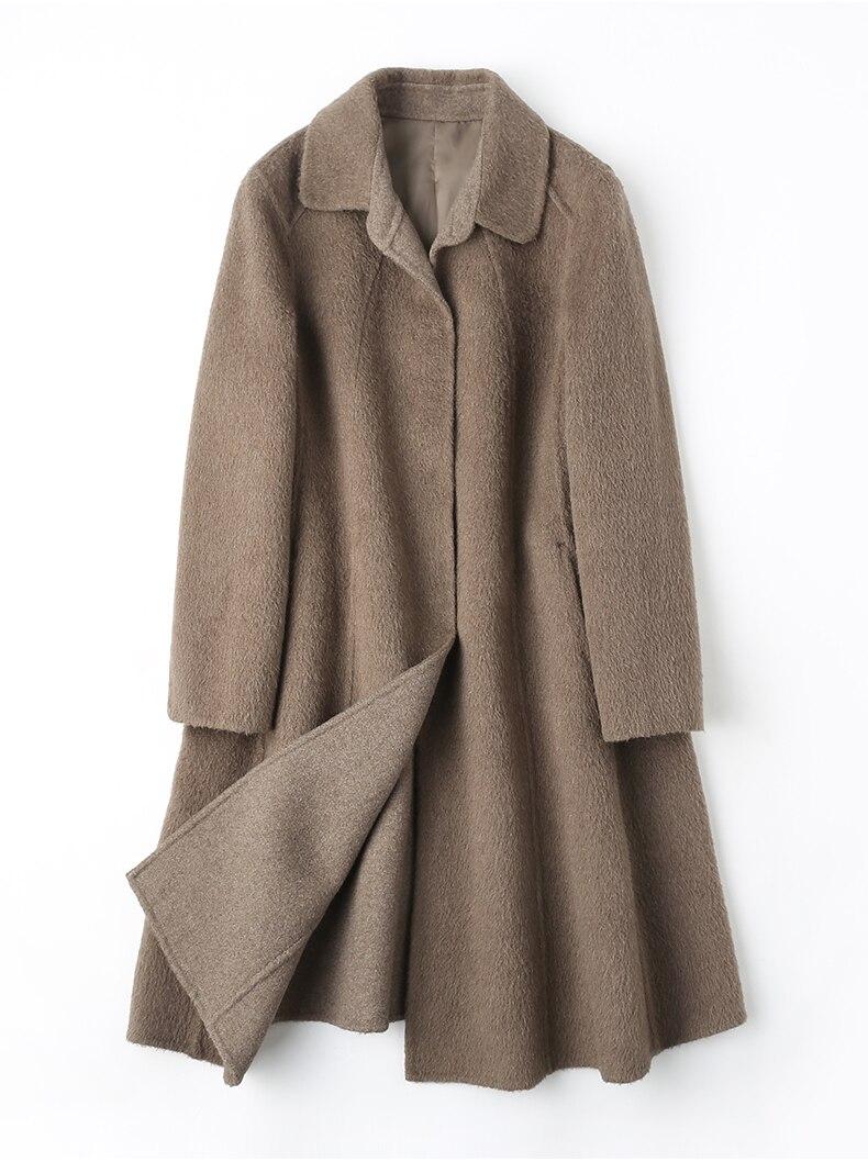 Распродажа в европейском и американском стиле Одежда для женщин шерстяные кашемировые пальто дамы женская зимняя одежда серый коричневый
