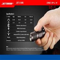 Высокое качество Новый Портативный JETbeam JET-II МК Cree XP-L Привет 510 люмен Водонепроницаемый светодиодный фонарик
