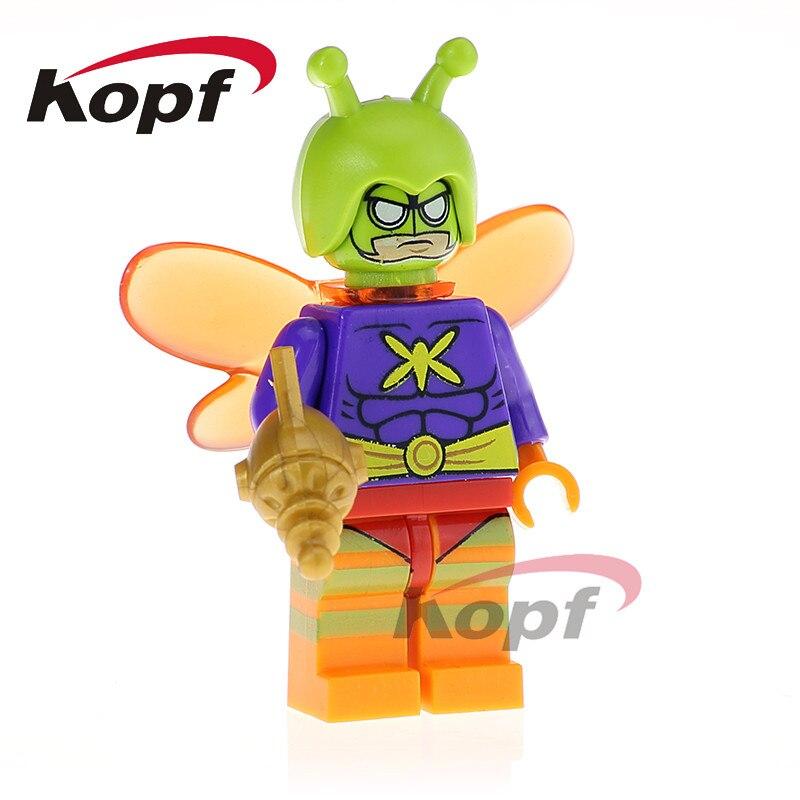 Single Sale Killer Moth Super Heroes Apache Chief Bat Alfred Crazy Quilt Batman Dolls Building Blocks Children Gift Toys PG425