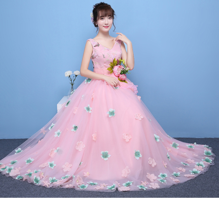 to wear - Pink light princess ball gown video